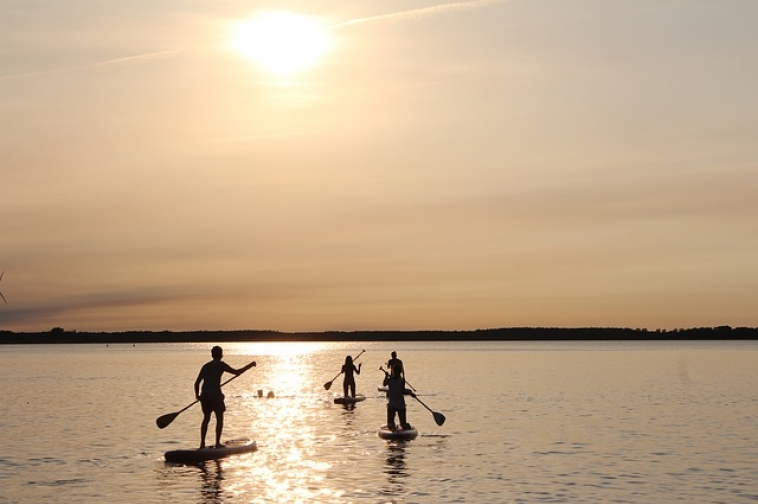 Stand up paddle lac hossegor
