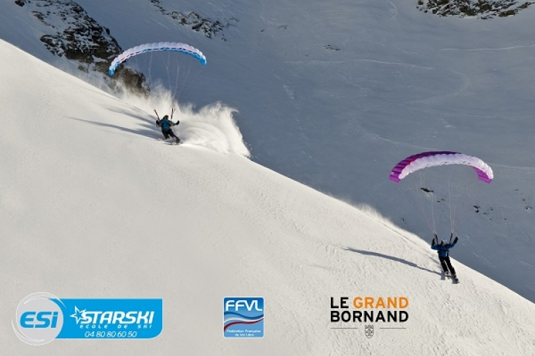 Speed-riding au Grand Bornand